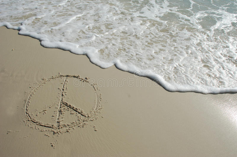 Vrede op strand royalty-vrije stock afbeelding