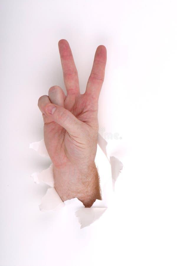 Vrede op Wit royalty-vrije stock afbeelding