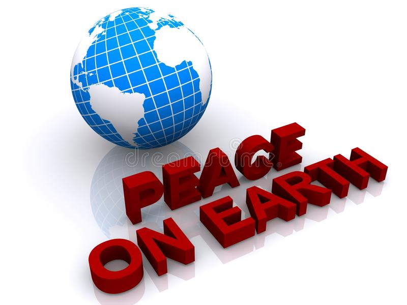 Vrede ter wereld royalty-vrije illustratie