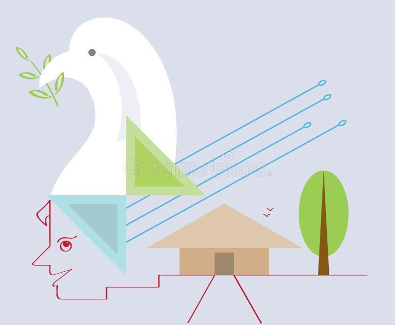 Vrede van mening vector illustratie
