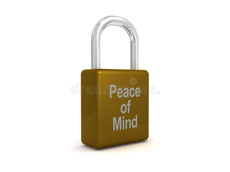 Vrede van meningshangslot stock illustratie