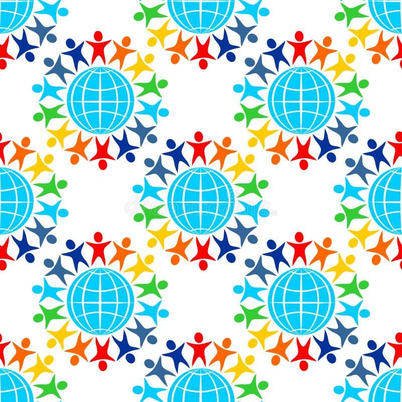 Vredes naadloos patroon vector illustratie