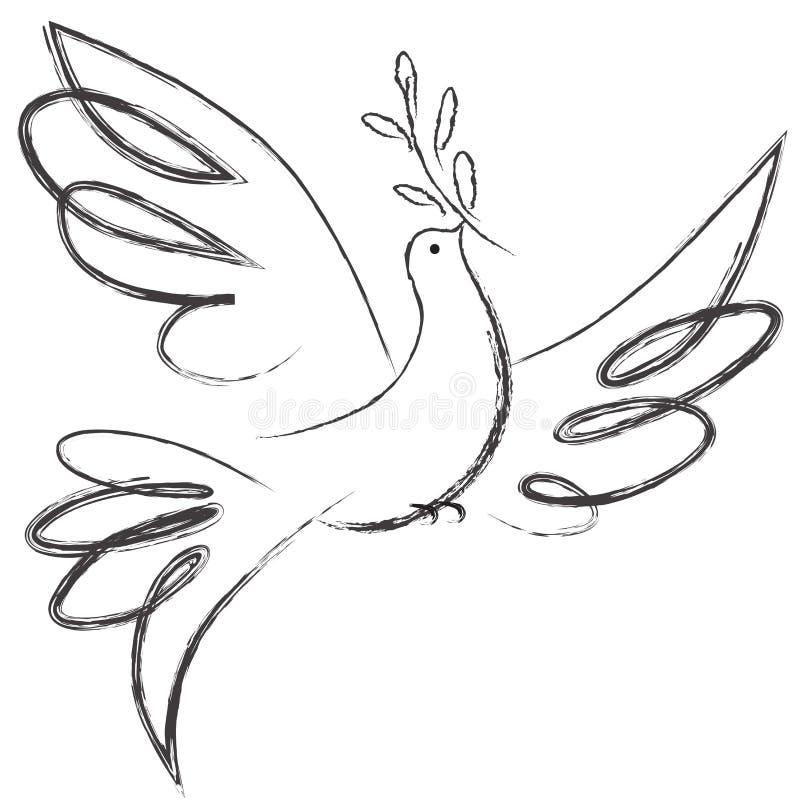 Vredesduif stock illustratie