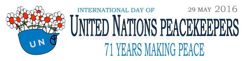 Vredeskorpsen internationale dag 1 vector illustratie
