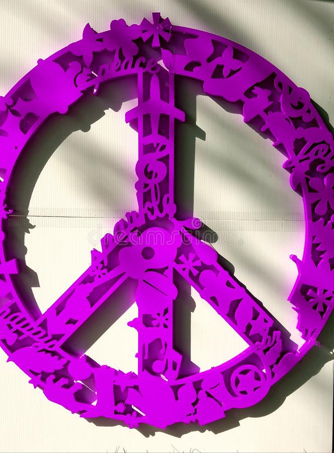 Vredessymbool royalty-vrije stock afbeelding