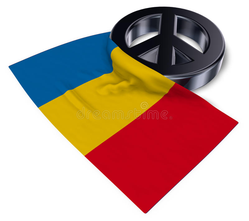 Vredessymbool en vlag van Roemenië vector illustratie