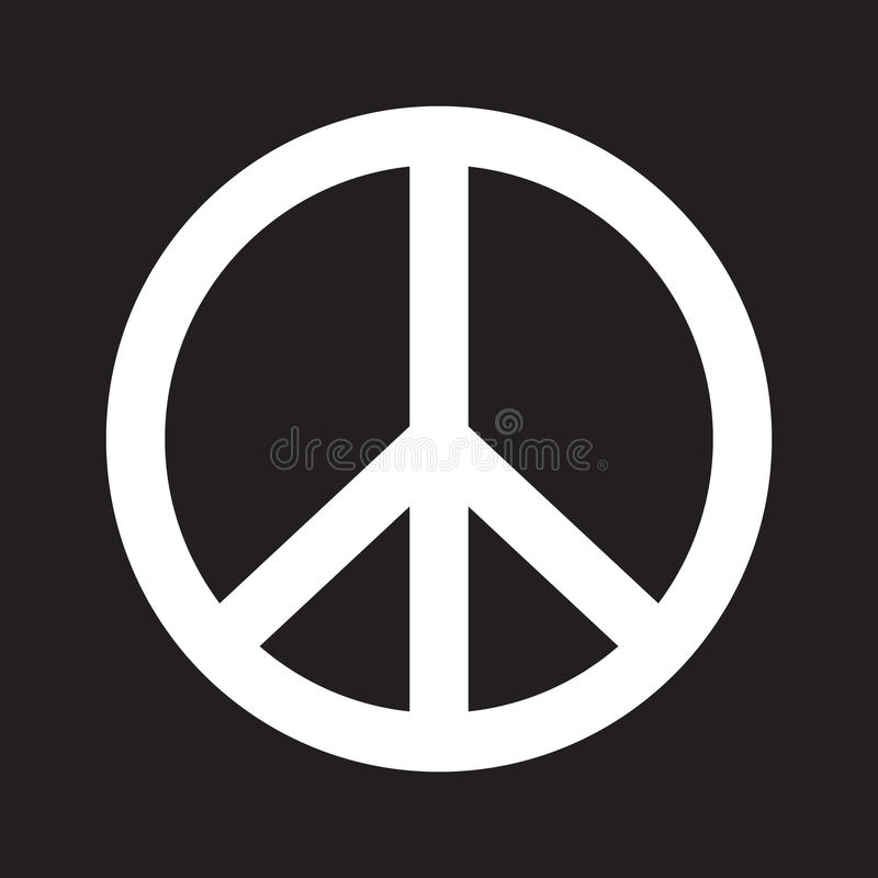 Vredesteken vector illustratie