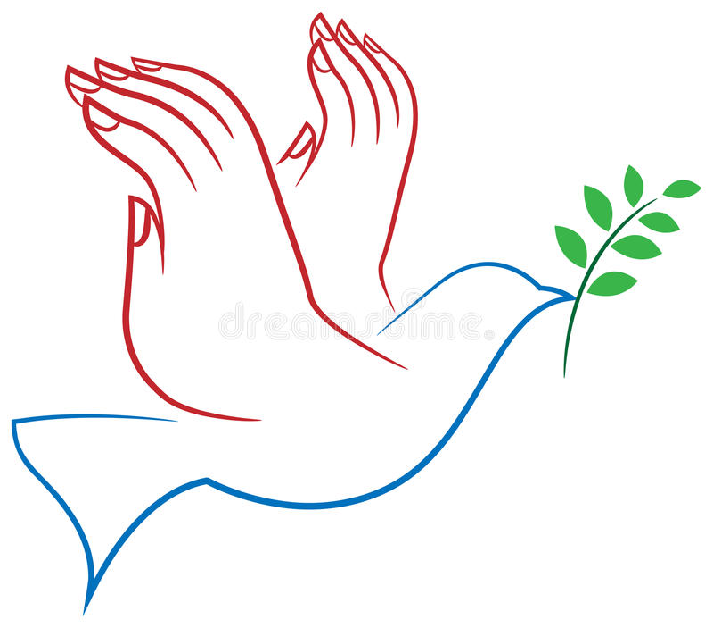 Vredesvogel stock illustratie