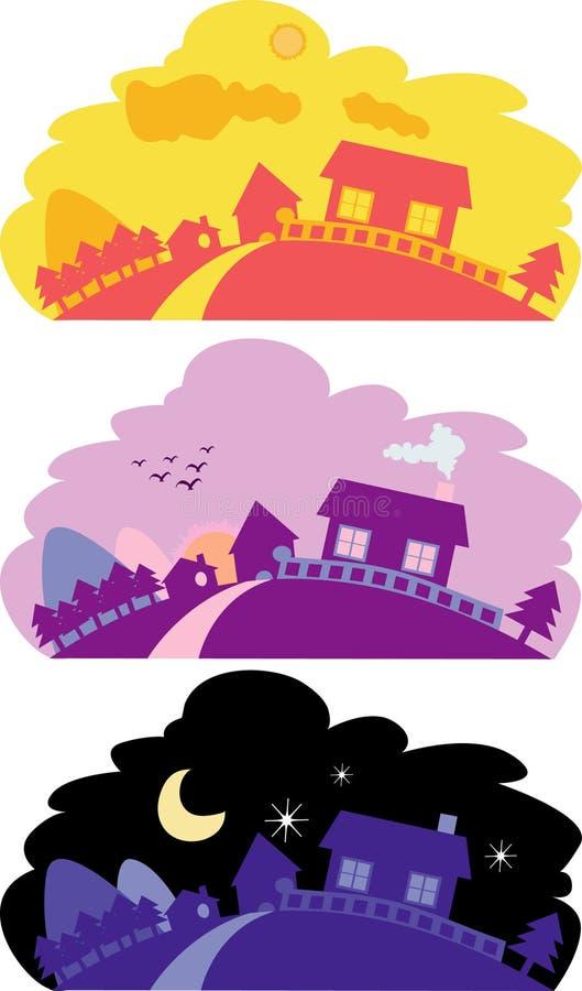 Vreedzaam landschap royalty-vrije illustratie
