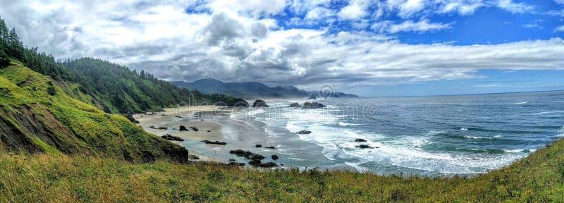 Vreedzaam strand in Oregon stock foto