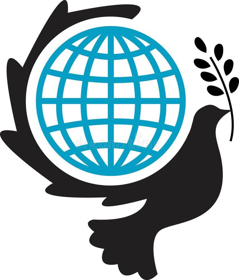Vreedzaam wereldlogboek royalty-vrije illustratie