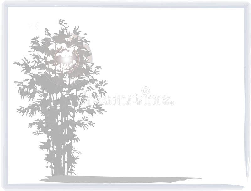 Vreedzame Achtergrond Zen stock illustratie