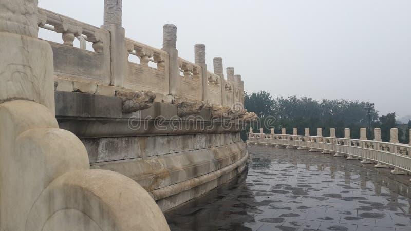 Vreedzame Architectuur in Peking, China royalty-vrije stock foto