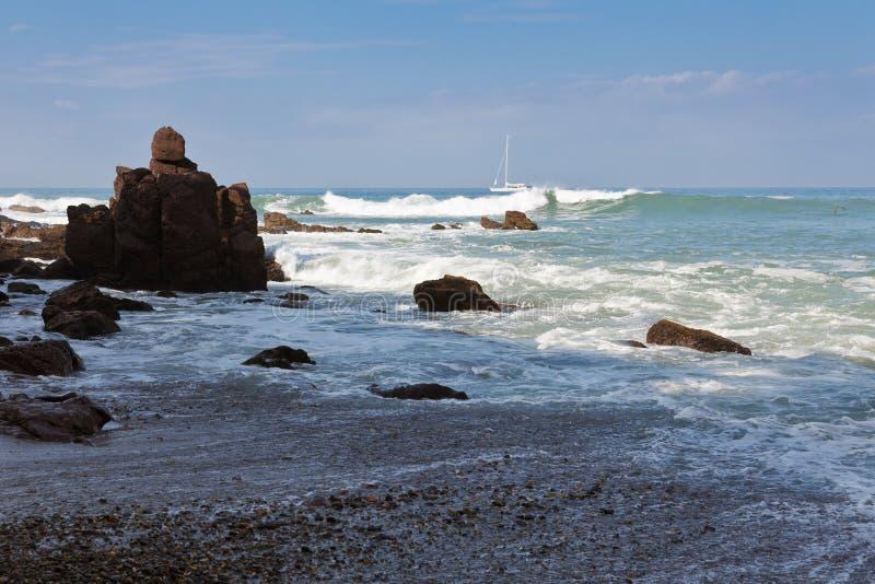 Vreedzame golven stock afbeelding