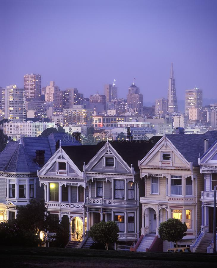 Vreedzame Hoogten San Francisco stock afbeelding