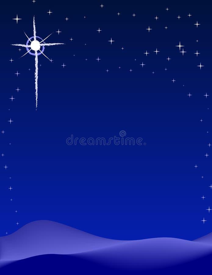 Vreedzame Nacht royalty-vrije illustratie