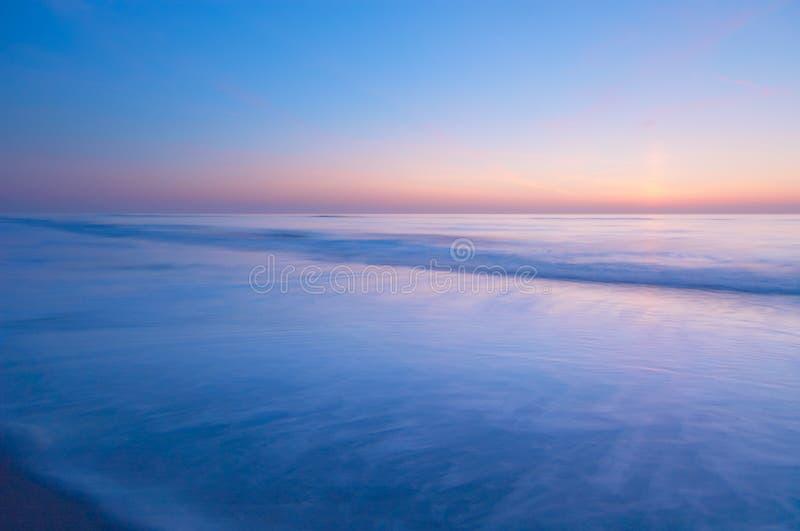 Vreedzame scène van de oceaan royalty-vrije stock foto's