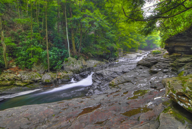 Vreedzame stroom in Pennsylvania stock fotografie