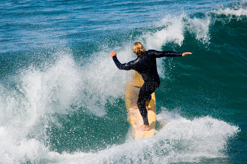 Vreedzame Surfer royalty-vrije stock afbeelding