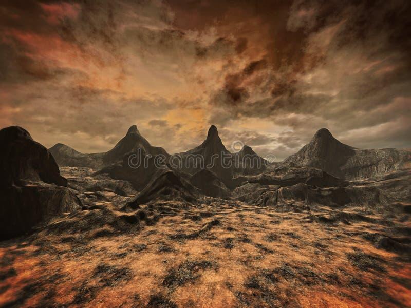 Vreemd landschap vector illustratie