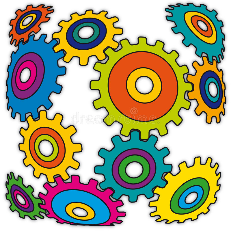 Vreemd mechanisme (vector) vector illustratie