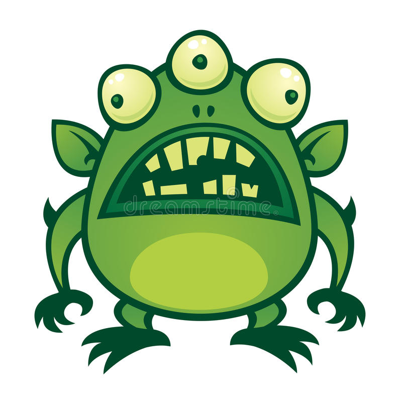Vreemd Monster stock illustratie