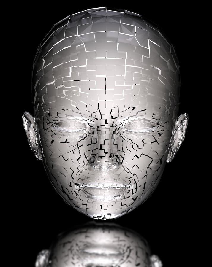 Vreemd portret vector illustratie