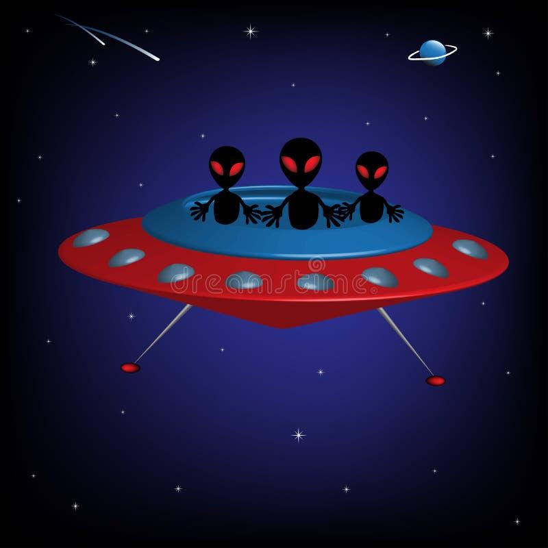 Vreemd ruimteschip royalty-vrije illustratie