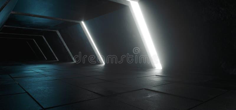 Vreemd Sc.i-Modern Futuristisch Minimalistisch Leeg Donker Concreet Co van FI royalty-vrije stock foto's