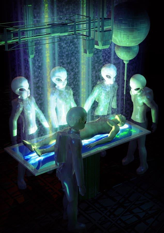 Vreemde abductie royalty-vrije illustratie