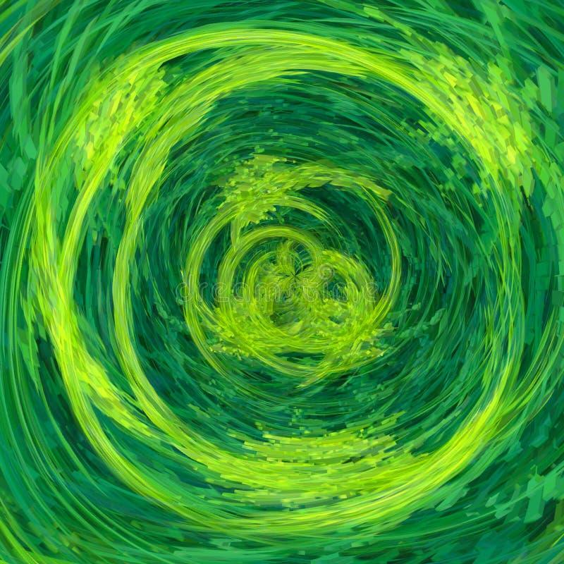 Vreemde abstracte geelgroene achtergrond royalty-vrije stock afbeeldingen