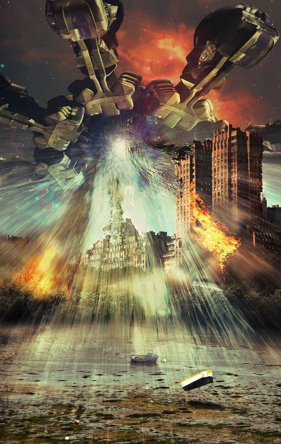 Vreemde apocalyps royalty-vrije illustratie