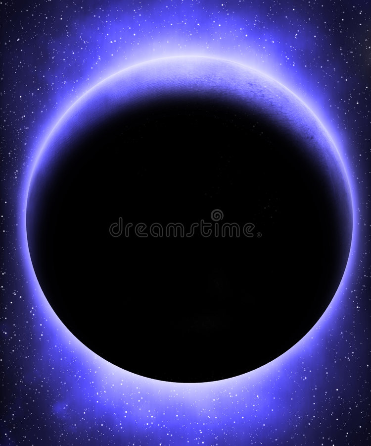 Vreemde blauwe planeet stock illustratie