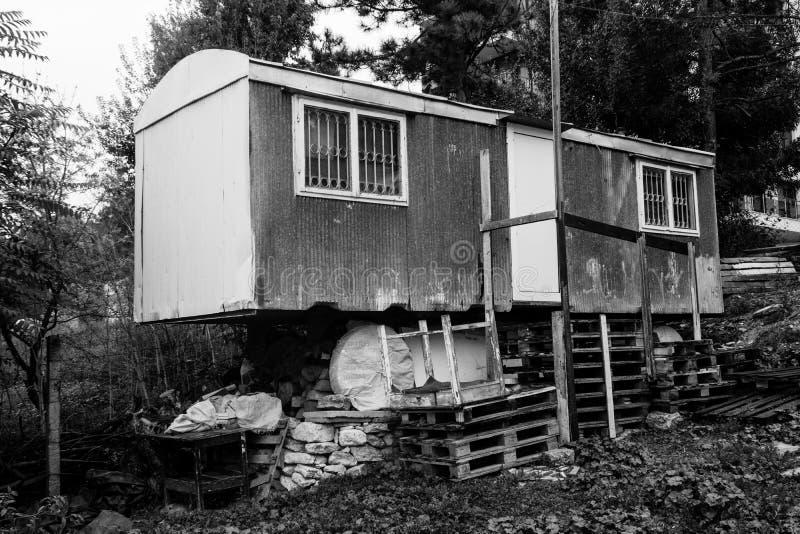 Vreemde bouw in Kavarna royalty-vrije stock fotografie