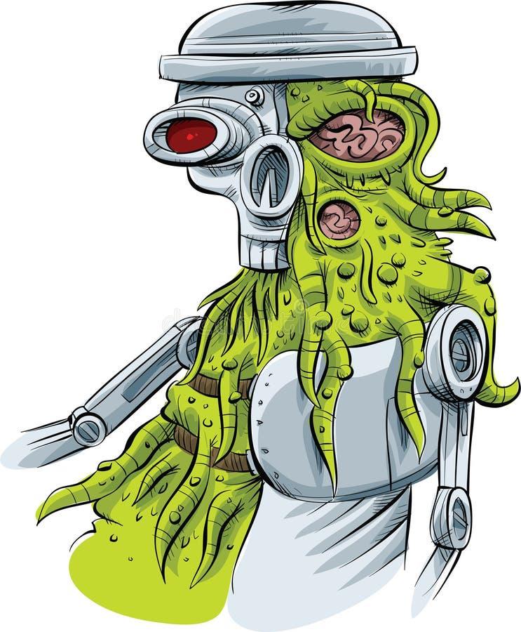Vreemde Cyborg royalty-vrije illustratie