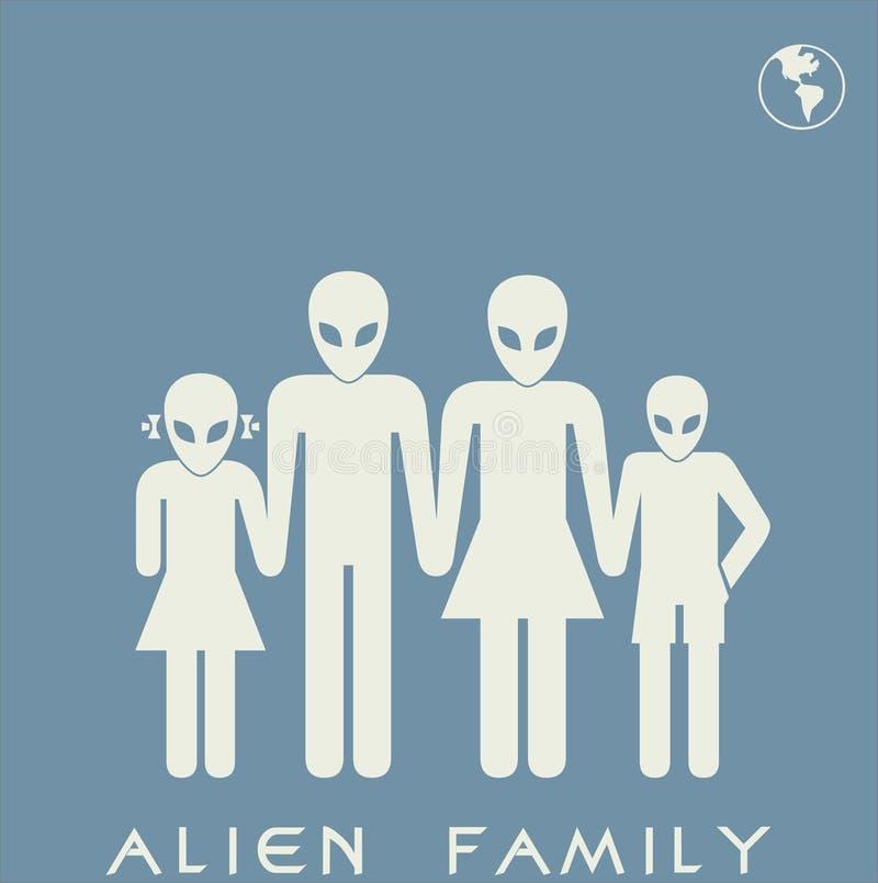 Vreemde familie vector illustratie