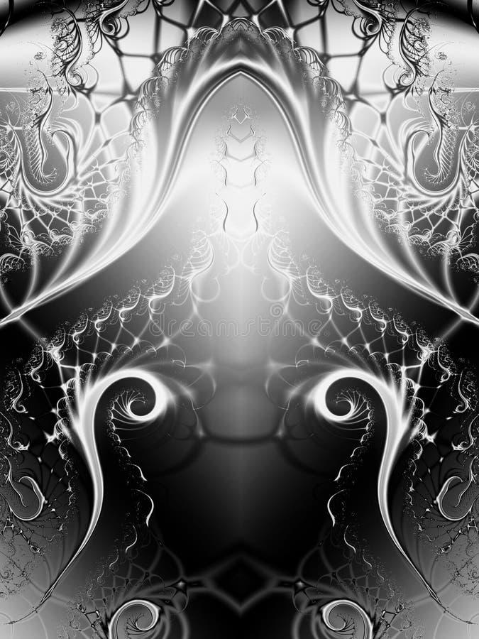 Vreemde Fractal van Wervelingen Textuur vector illustratie