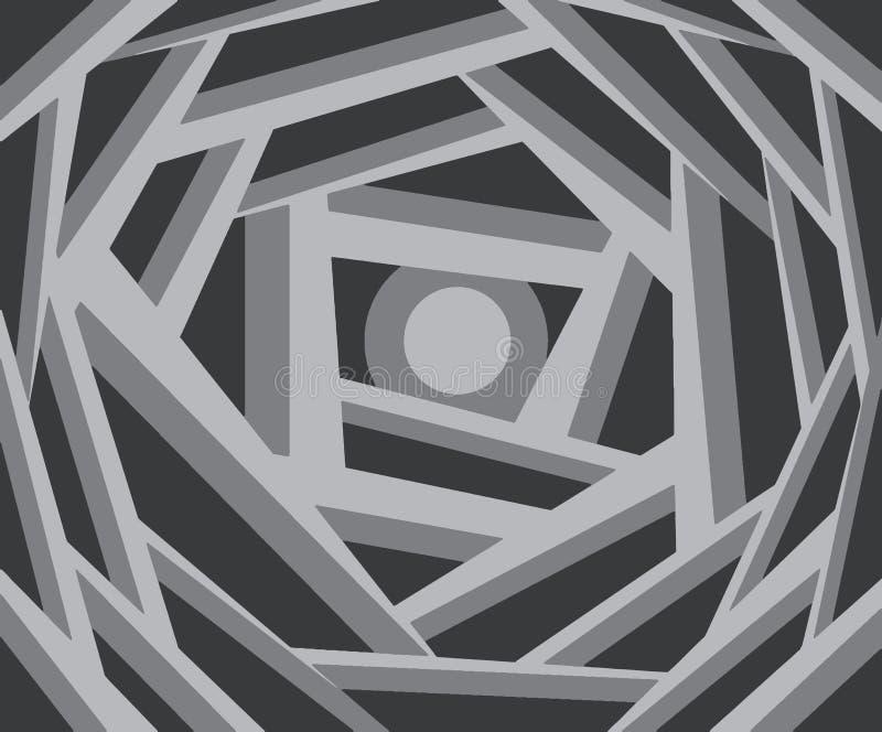 Vreemde grijze elementen Ontzagwekkende Achtergrond royalty-vrije illustratie