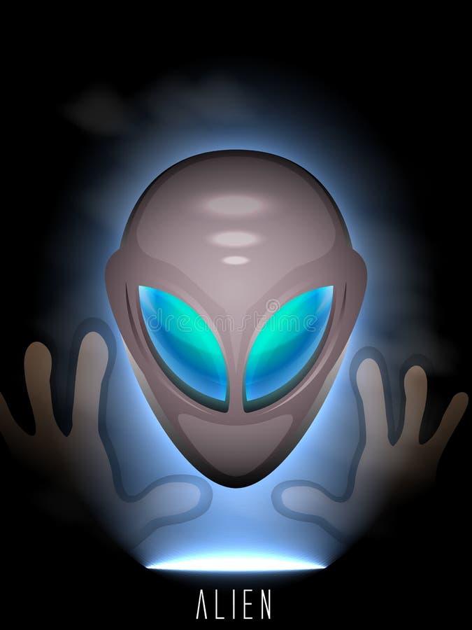 Vreemde humanoid royalty-vrije illustratie