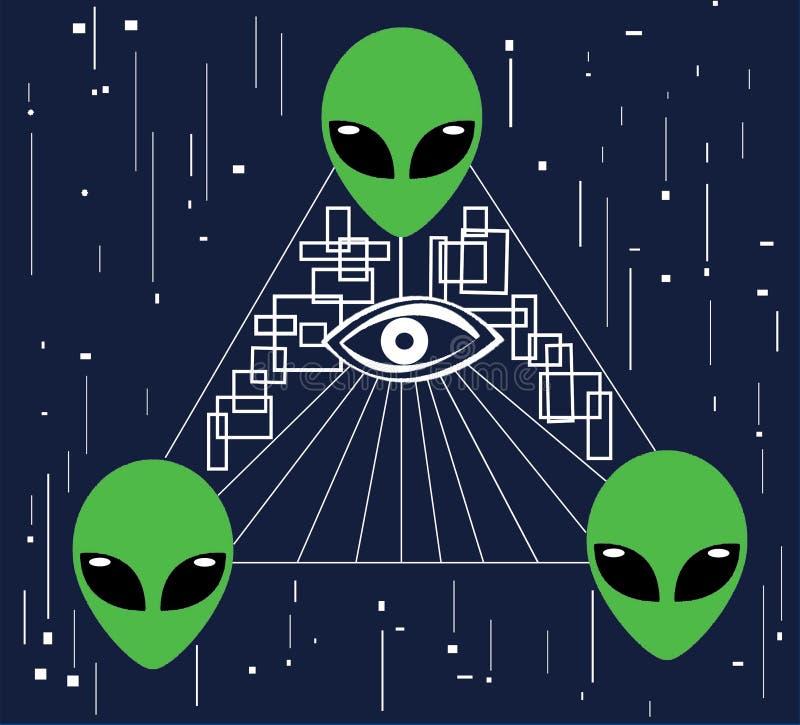 Vreemde Illuminati stock foto