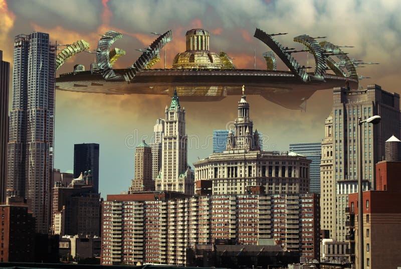 Vreemde invasie vector illustratie