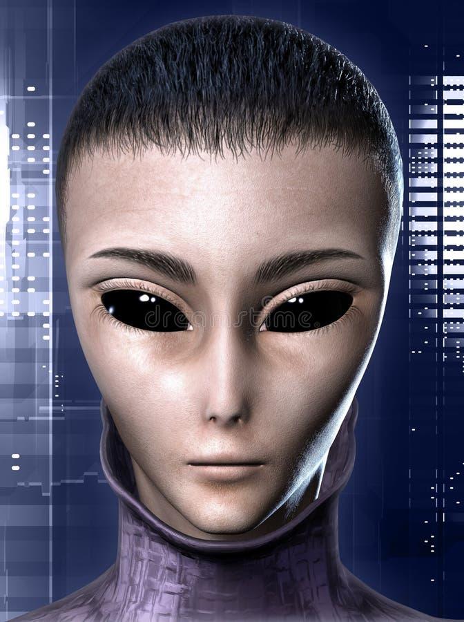 Vreemde menselijke hybride royalty-vrije illustratie