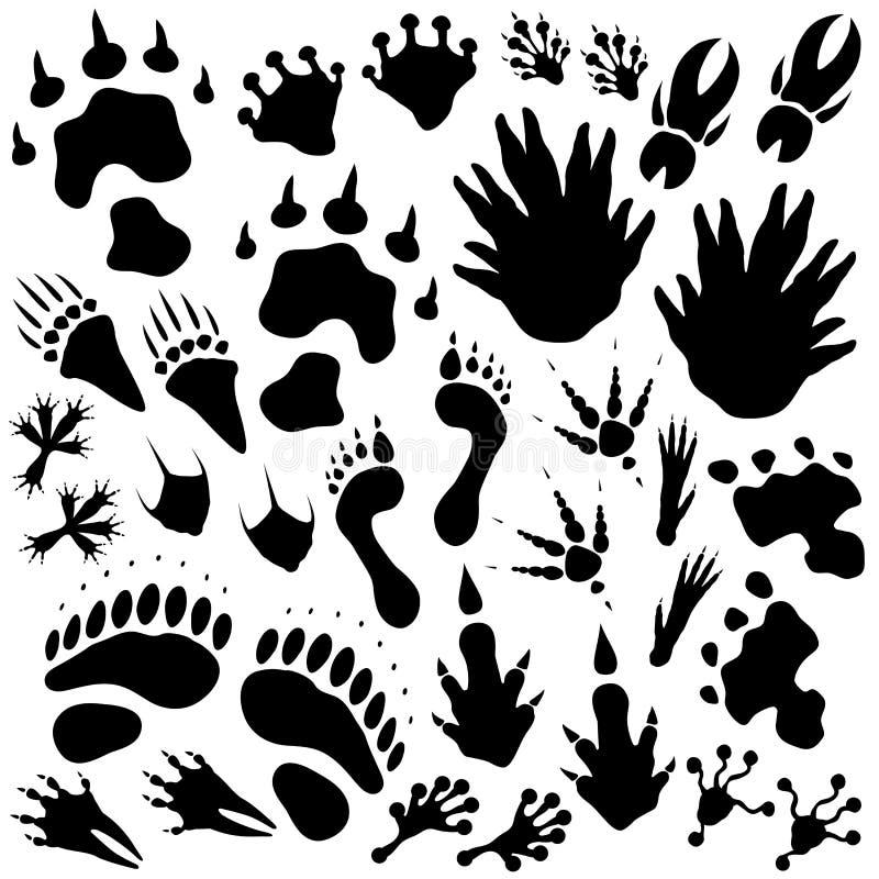Vreemde monstervoetafdrukken royalty-vrije illustratie