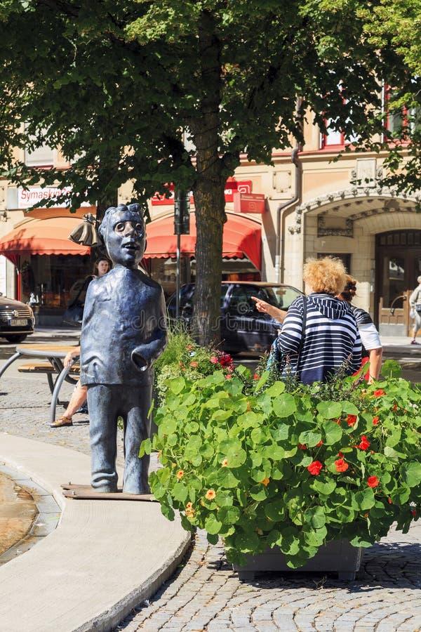 Vreemde monumenten van Orebro, Zweden royalty-vrije stock afbeeldingen