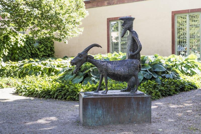 Vreemde monumenten van Orebro, Zweden stock afbeelding