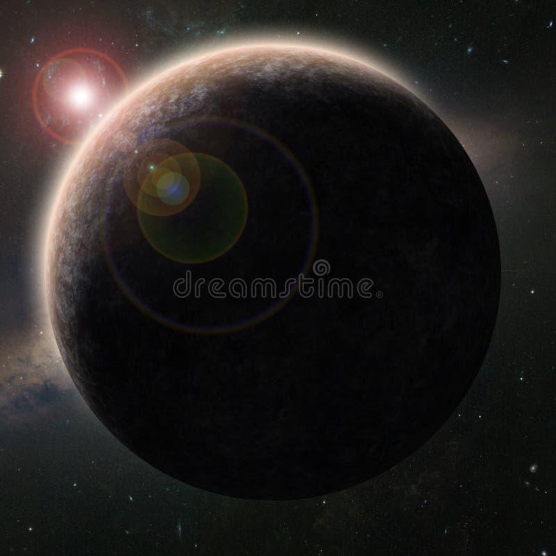 Vreemde planeet stock illustratie