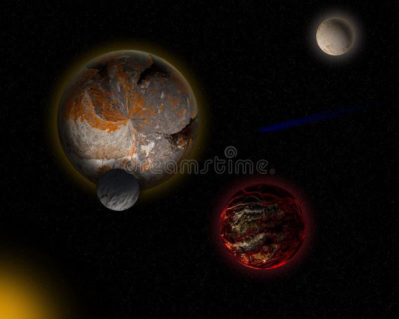 Vreemde planeet royalty-vrije illustratie