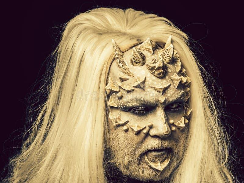 Vreemde of reptilian make-up royalty-vrije stock fotografie