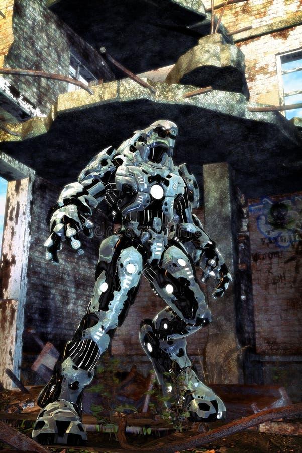 Vreemde robot vector illustratie