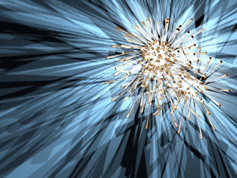 Vreemde ster 3 vector illustratie